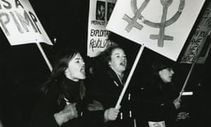 Demonstration against a Miss World competition, 1971.