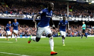 Oumar Niasse celebrates after his second goal in quick succession completed Everton's turnaround.