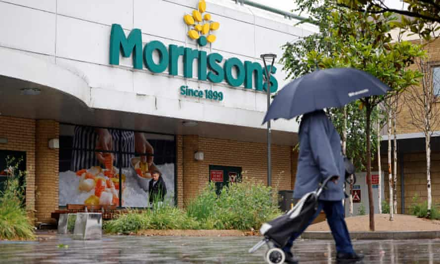 A view of a Morrisons supermarket in Stratford, east London.