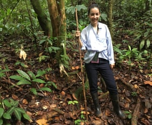 Lucrecia Dalt in the Colombian rainforest.
