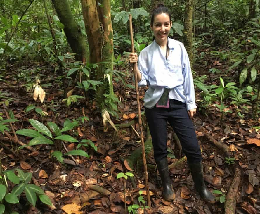 Lucrecia Dalt in the Colombian rainforest.