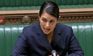 UK home secretary, Priti Patel