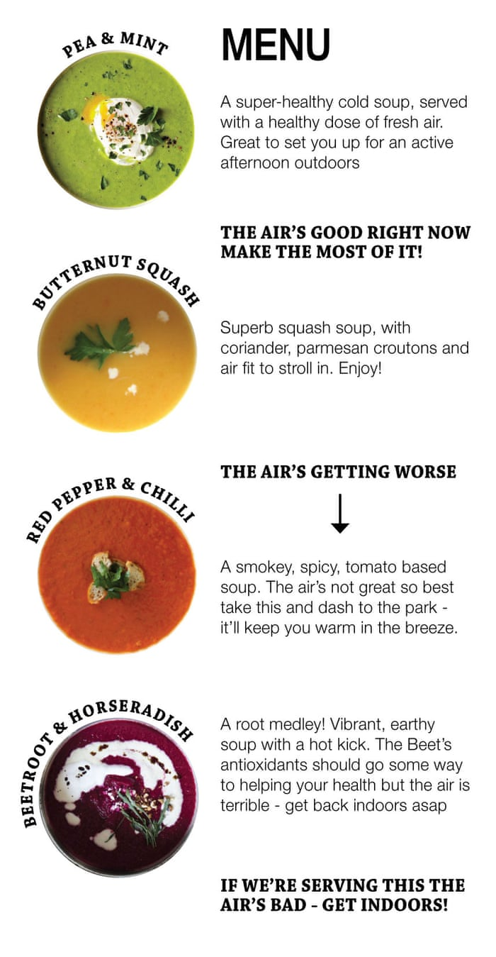 The soup kitchen putting London\'s air quality on the menu ...