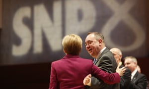 Alex Salmond and Nicola Sturgeon at the Scottish National party conference in 2013