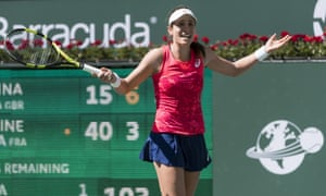 Johanna Konta came up short against Caroline Garcia, losing 6-3, 6-4 in the second round.