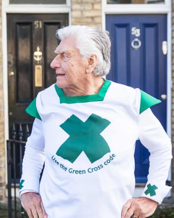 Prowse as Green Cross Code Man