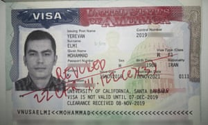 Mohammad Elmi was denied entry to the US and his student visa revoked by Customs and Border Protection.