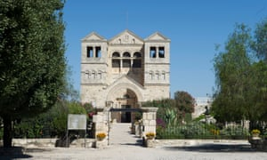 Exterior of the Franciscan church of the Transfiguration, mount Tabor, Jezreel Valley, Galilee, Israel