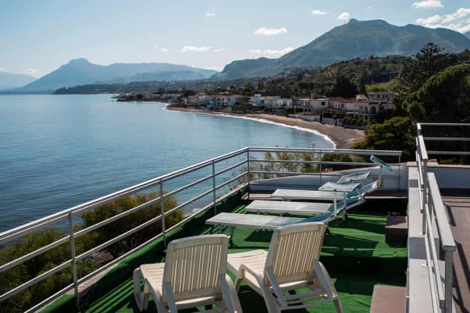 View from the rooftop of the villa previously owned by former mafia's boss of bosses Michele Greco.