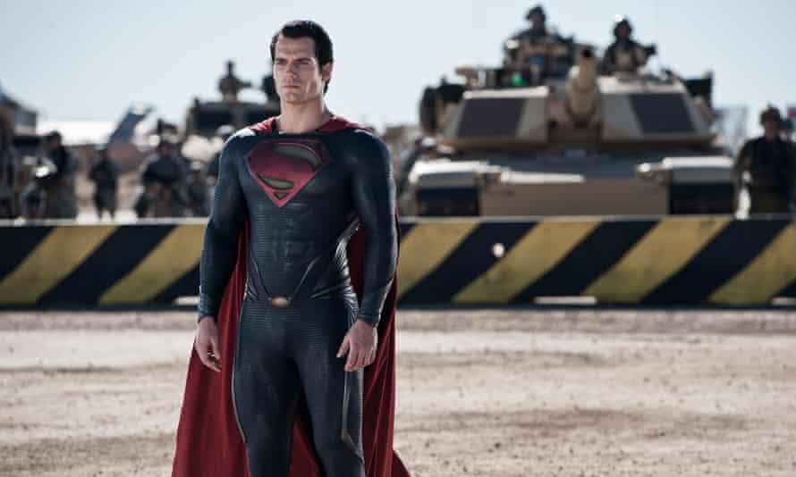 Henry Cavill as Superman in Man of Steel.