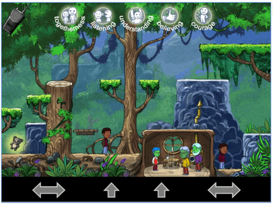 Orbit Rescue, a game promoting child safety developed by Engage Lab at USC, which was Australian-based game academic Katryna Starks' lab.