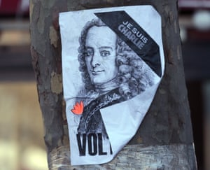 Voltaire Charlie Hebdo poster in January 2015.