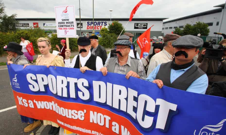 Sports Direct pay protest in Shirebrook in September.