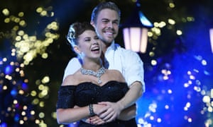 Bindi Irwin and Derek Hough at the Dancing With the Stars live finale.