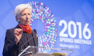 Christine Lagarde, the IMF's managing director, speaks during a seminar in Washington.