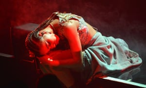 FKA Twigs on stage at Alexandra Palace Theatre, London