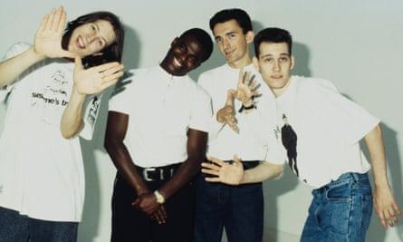 El grupo británico de música dance Smart E's a principios de los 90.