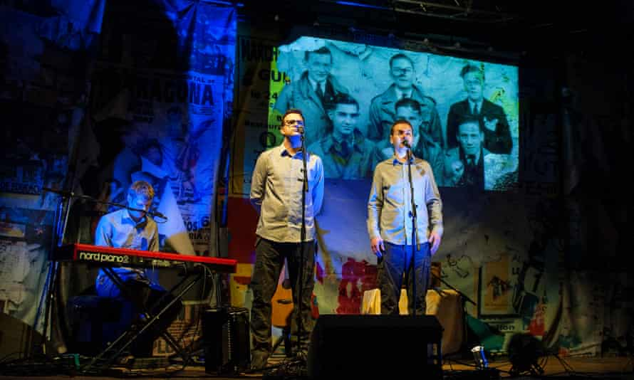 The live show plunges audiences into Johnny's world ... The Young'uns performing The Ballad of Johhny Longstaff.