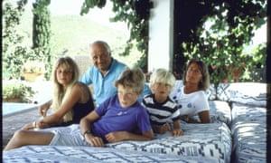 A Goldsmith family portrait in 1987.