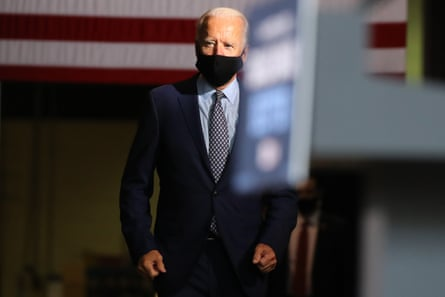 Joe Biden in Pennsylvania on Thursday. Biden said if he won in November, he would be 'laser-focused on working families'.