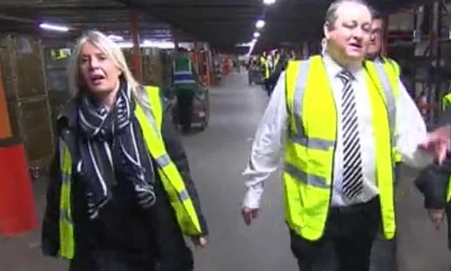 Karen Byers and Mike Ashley of Sports Direct