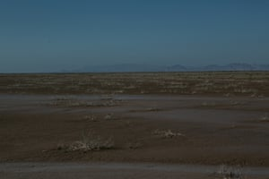 Dry land where tidal waters from the sea meet the mouth of the Colorado River in Baja California Norte, Mexico.