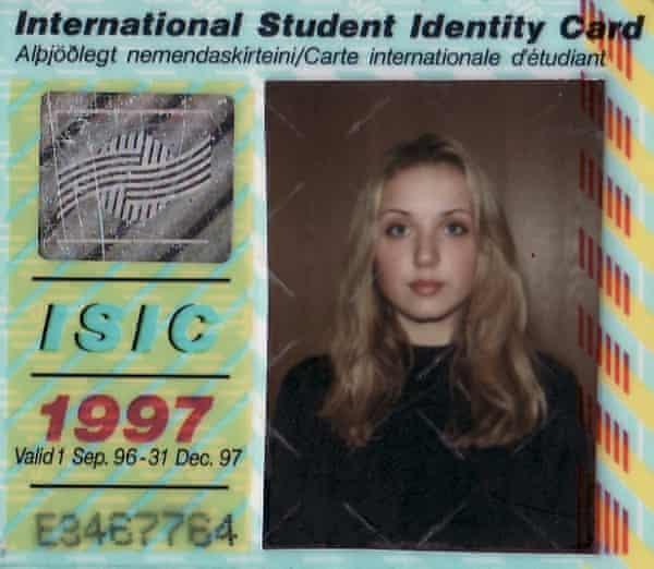 Thordis's 1997 student ID.