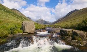 The Glenrosa Water in Glen Rosa, Isle of Arran