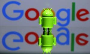 A 3D printed Android mascot Bugdroid.