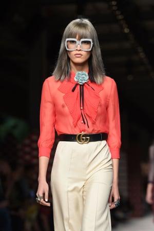 Happening haberdashery on the Gucci catwalk at Milan fashion week.
