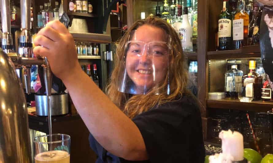 Jessica Floyd has been working part-time in a Lynmouth pub this summer and is now going full-time.