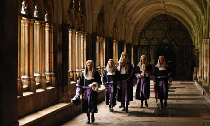 Judges in Westminster Abbey