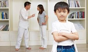 Asian Child and Quarreling ParentsDB3YKA Asian Child and Quarreling Parents