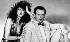 Caroline Munro and Gary Numan in 1985.