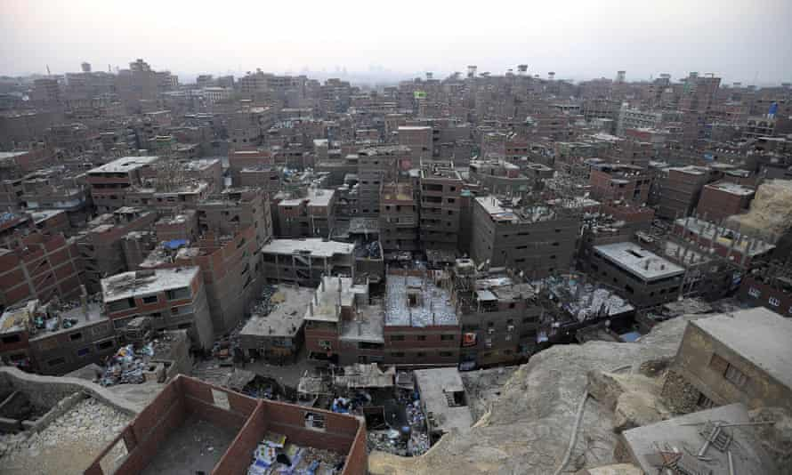Part of 'Garbage City' in the Greater Cairo area.