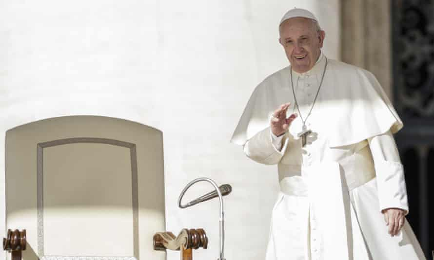 Pope Francis's weekly general audience in Vatican City on 11 October.