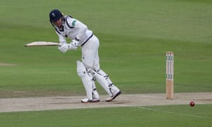 Jonathan Tattersall in action for Yorkshire against Essex.