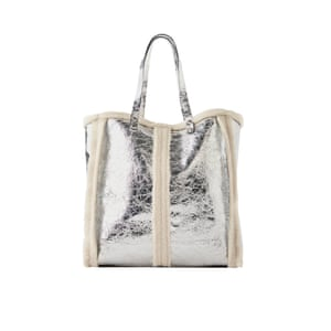 Silver bag, £49.99, zara.com