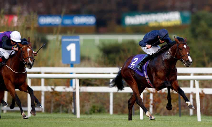 Kenya stretches clear to win the Killavullan Stakes at Leopardstown