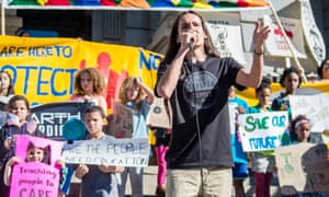Xiuhtezcatl Martinez, 18, the global youth director of Earth Guardians.