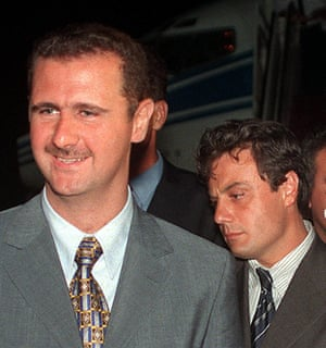 Bashar al-Assad with Manaf Tlass in 2012.
