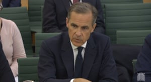 Mark Carney at today's hearing