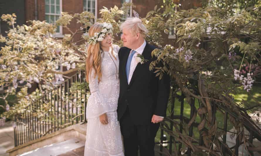 Carrie and Boris Johnson after their wedding
