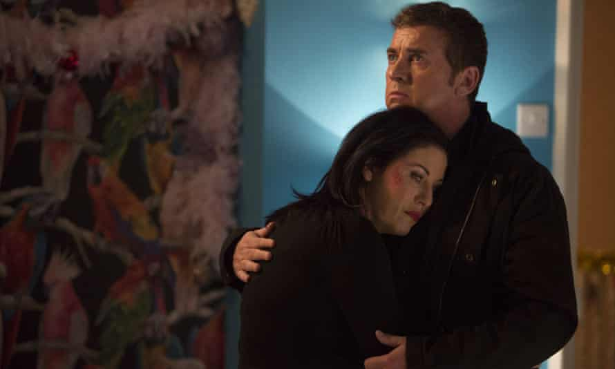 Kat Moon (Jessie Wallace) and Alfie Moon (Shane Ritchie) in Eastenders.