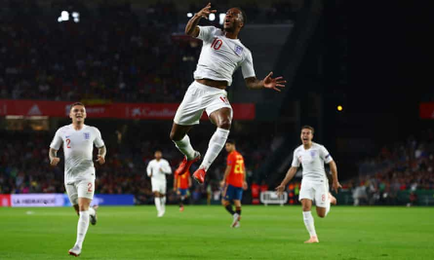 Raheem Sterling was the most experienced England player in the starting XI, who had an average age of 23.