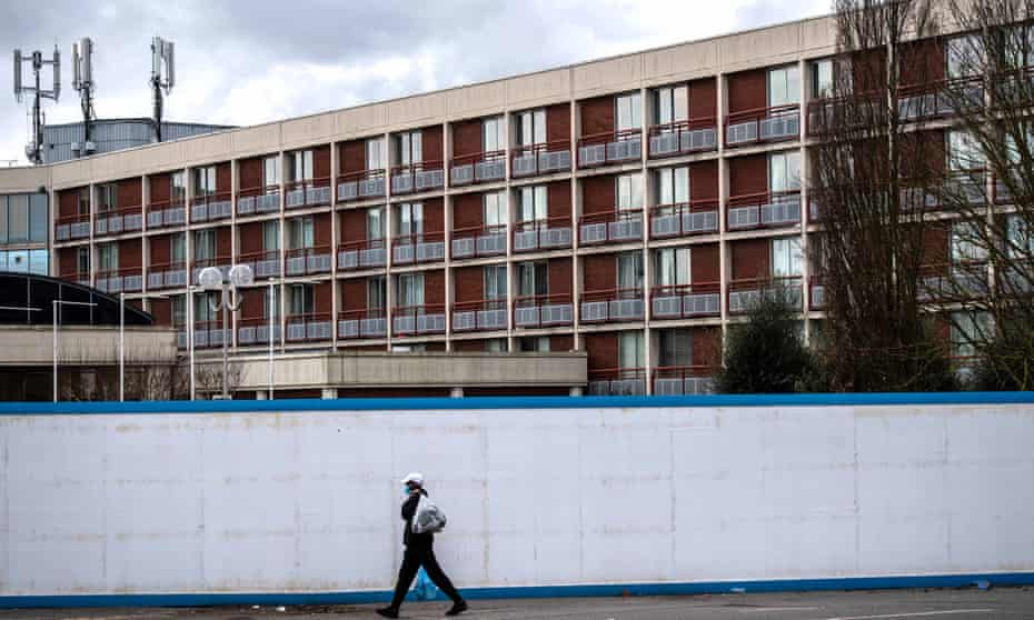 The Crowne Plaza Hotel near Heathrow is being used to house asylum seekers. Last week a distressed man threatened to jump from the roof.