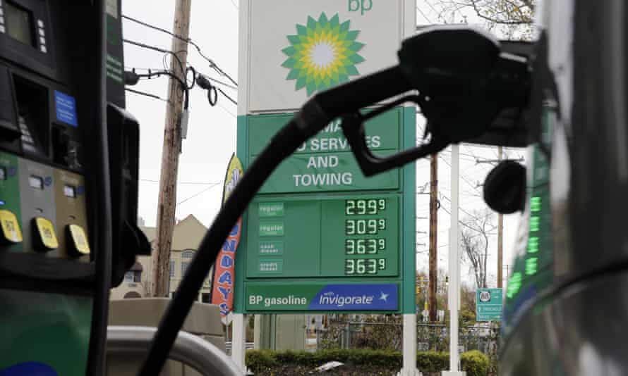 A BP petrol station in New Jersey.