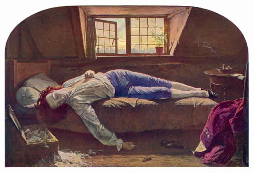The Death of Chatterton by Henry Wallis.