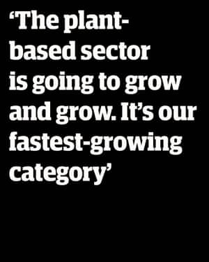 David Lewis, Bakkavor director of development: 'The plant-based sector is just going to grow and grow. It's the fastest growing category we work on.'