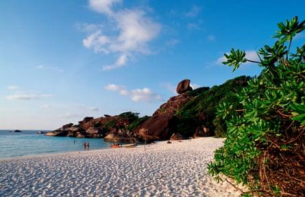 Recreate The Beach on the Similan Islands.